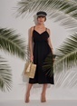 Morhipo Beach Sırt Detaylı Elbise Siyah